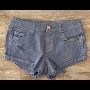 Denim Shorts Size 9 W 29 NWOT Distressed Look